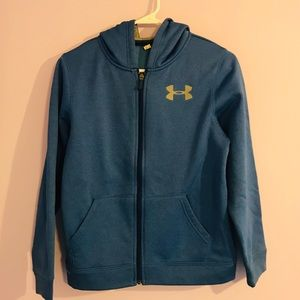 Youth Under Armour  zip up hoodie size M